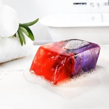 """SoapRocks® """"Feueropal"""", 170 g - Ausgefallener Blickfang für Bad und Gäste-WC: luxuriöse Seife in Edelstein-Optik."""