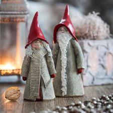 Schwedischer Weihnachtszwerg - Schwedens gute Hausgeister. Von Hand verziert und bemalt. Jeder ein Unikat im typischen Ruth Vetter-Design.