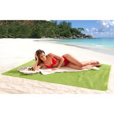 Sandfrei-Strandmatte - Schluss mit lästigem Sand auf Ihrer Strandmatte. US-patentiert. Groß genug für 2 Personen.