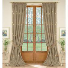 Vorhang Avellino - 1 Stück - Brillant changierender Taft mit eleganter Blüten-Stickerei.