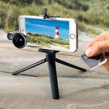 iShutter Travel Pack - Selfie und Video verwackeln nicht mehr. Und die Weitwinkellinse liefert Panoramabilder zum Staunen.
