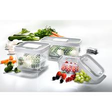 Greensaver™ Frischeboxen - Geniale Vorratsboxen absorbieren Ethengas und schaffen für jedes Obst und Gemüse das optimale Lagerklima.