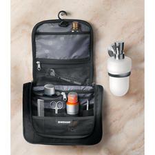 Übersichtliche Innenausstattung mit 2 Reißverschlusstaschen, geräumigen Netzfächern und 4 Gummischlaufen zum Einstecken von Kleinteilen.
