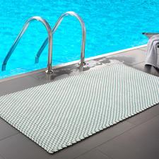Die Kordelmatte Komfort in türkis/weiß (172 x 92 cm) - perfekt am Pool, im Wellnessbereich, ...