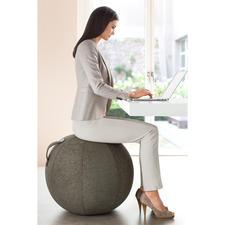 Sitzball Vluv - Macht gesundes Sitzen jetzt sogar stylish. Der erste aufblasbare Sitzball mit wertvollem Möbelstoff-Bezug.