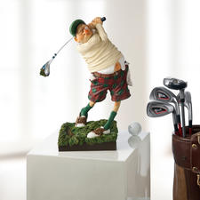"""Forchino Figur """"Golfer"""" - Die Kunst, die Leidenschaft Golf amüsant aufs Korn zu nehmen."""