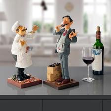 Forchino Figur Koch oder Weintester - Detailfeine Skulpturen des Künstlers Guillermo Forchino. Jede von Hand bemalt.