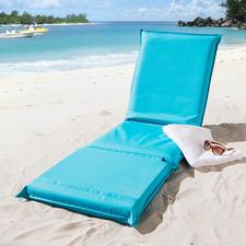3-in-1 Strandmatte - Eine Liegematte mit 5fach verstellbarem Rückenteil und besonders variabler, geteilter Liegefläche.