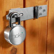 Bluetooth Vorhängeschloss Nokē - Kein Schlüssel. Kein Zahlencode. Einfach per Bluetooth mit Ihrem Smartphone zu entriegeln.