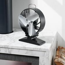 Kaminventilator - Der geniale Kaminventilator: lenkt den Warmluftstrom horizontal und optimiert so die Wärmeverteilung im Raum. Ohne Strom, ohne Batterien.