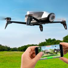 Parrot Kamera-Drohne Bebop 2 mit oder ohne Skycontroller - Jetzt noch besser: 25 Minuten Flugspaß mit bis zu 60 km/h mit der Parrot Hightech-Drohne Bebop 2.