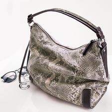 Reptil-Look Hobo-Bag - Die luxuriöse Optik von Pythonhaut – kunstvoll geprägt und nicht bedruckt. Auf softem Rindleder.