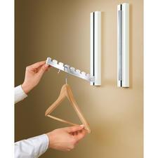 Design-Klappgarderobe, 1 Stück - Eine Wandskulptur oder ein Deko-Objekt im puristisch edlen Design, das eine Garderobe im Inneren versteckt.