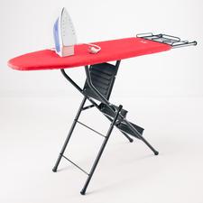 2-in-1 Bügeltisch/Leiter - Doppelt hilfreich: Bügelbrett und 3-Stufen-Leiter in einem. Genial praktisch und platzsparend.