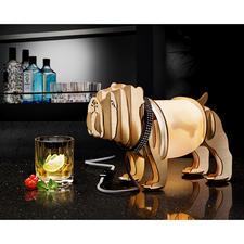 Holzleuchte Mops - Modehund Mops: Hier minimalistische Holzskulptur und originelle Design-Leuchte zugleich.