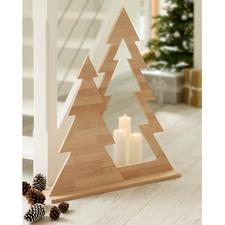 Tannenbaum-Duett - Moderner Weihnachtsschmuck ohne jeden Kitschverdacht. Klare Form. Puristisches Design. Naturbelassenes Erlenholz.