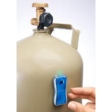 Gaslevel-Anzeiger - Der präzise Füllstands-Messer: ermittelt in Sekunden, wie viel Vorrat noch in Ihrer Gasflasche ist.