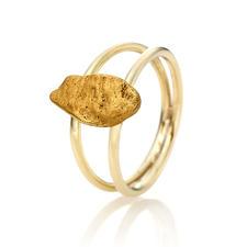 Goldnugget-Ring - Ein echtes Goldnugget: außergewöhnliches Schmuck-Unikat, geformt von der Natur.