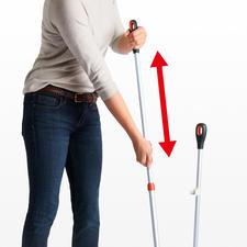 Sie können die Länge des Stiels stufenlos zwischen 100 bis 130 cm verstellen.