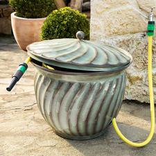 """Schlauch-Kübel """"Ritu"""" - Praktischer Stammplatz für Ihren Gartenschlauch. Und zugleich ein edler Blickfang."""