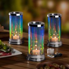 Regenbogen-Windlicht - Der Zauber des Regenbogens – von Ihnen entfacht. Das patentierte Glas-Windlicht mit faszinierend elegantem Lichtspiel.