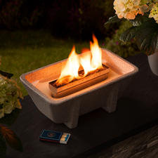 Schmelzfeuer® XL Granicium® - Kraftvolles Feuer – sogar aus Kerzenresten. In Deutschland handgefertigtes Granicium®. Ganzjährig outdoortauglich.
