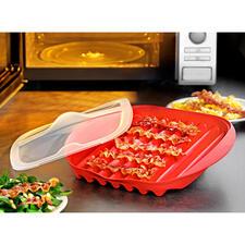 Mikrowellen-Baconschale - Knuspriger Bacon – schnell und einfach wie nie. Kein Herd, keine Pfanne, keine Fettspritzer.