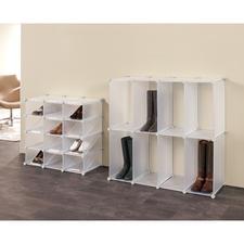 Schuh-Organizer oder Stiefel-Organizer Cubes - Schuhe und Stiefel platzsparend und elegant verstaut. Variable Cube-Regale zum Zusammenstecken.