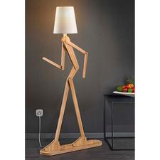 Stehleuchte Mensch - Ob gebeugt, gestreckt, gehend,… die bewegliche Lichtskulptur – auf Wunsch mit immer neuer Gestik.