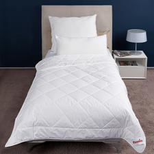 """Paradies """"Cool Comfort"""" Sommer-Bettdecke oder """"Softy Cool Comfort"""" Kissen - Auch in heißen Nächten entspannt schlafen. """"Cool Comfort""""-Sommerbett und Kissen von Paradies."""