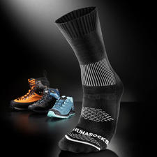 Antiblasen-Socken - Die Klima-Socke mit eingebautem Blasenschutz. 2 Stricklagen neutralisieren die Reibung und leiten Feuchtigkeit ab.
