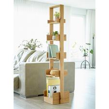 wireworks Design-Regal Bookie - Auf kleinster Stellfläche (ca. 0,1 qm) über 1,50 laufende Meter Bücher präsentiert.