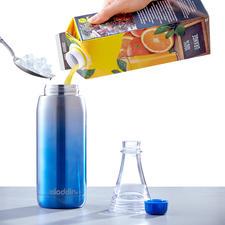 Trinkflasche Easy-Fill - Aufschrauben. Befüllen. Genießen. Mit abnehmbarem Flaschenhals und doppelwandigem Edelstahlkörper. 100 % Auslaufsicher.
