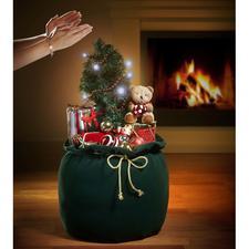 Weihnachtssack - Reich dekoriert. Beschert die schönsten Weihnachtsmelodien. Faszinierende Überraschung für Groß und Klein.