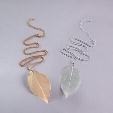 Bodhi-Blatt-Kette - Von der Natur designt: das Blatt des Bodhi-Baums. Vergoldet oder versilbert. Und jede Kette ein Unikat.