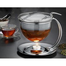 """1,5 l """"Filio"""" Teekanne mit Stövchen - Die schönere Teekanne ist auch die bessere. Mit extragroßem Siebeinsatz für maximale Aroma-Entfaltung und Stövchen."""