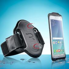 "Smartphone-Sportarmband ""magnetic"" - Das Smartphone-Armband mit Magnetfunktion, Fingersensor-Öffnung und Sensor-Touch-Folie."