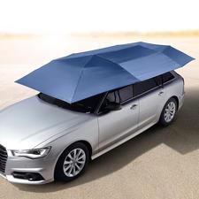 Portabler Auto-Sonnenschirm - Schützt vor UV-Strahlung und Hitze. Hält Regen, Staub, Vogelkot, Baumharz, ... ab. Öffnet und schließt automatisch.
