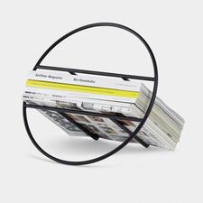 Design-Zeitungs/Plattenständer - Minimalistisches Design macht Ihre Magazine, LPs zum edlen Hingucker.