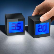 Magische Würfeluhr - Magische Würfel: nach Wunsch Digitaluhr. Oder Thermometer und Hygrometer.