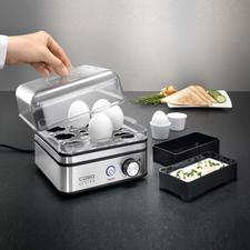 Elektronischer Eierkocher - Kocht bis zu 8 Eier (statt oft nur 6) exakt nach Ihrem Wunsch. Ohne lästiges Wasserabmessen. Auch für pochierte Eier und Omeletts.