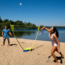 Schildkröt® Badminton-Set - Badminton-Outdoor-Training endlich mit Netz in Turnierhöhe.