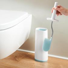 Flexible Silikon-WC-Bürste - Flexibler und hygienischer als herkömmliche Toilettenbürsten.