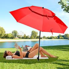 Windprofi Strand/Badeschirm, Rot - Richtig groß. Richtig stabil. Und erfreulich günstig.