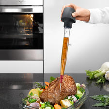 Zyliss® Bratenspritze - Sauberer, vielseitiger und praktischer als andere. Mit Standfuß, Wechsel-Spitze und Reinigungsbürste.