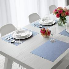 Baumwoll-Tischwäsche Lotoseffekt - Soft, textil und doch einfach abwischbar.