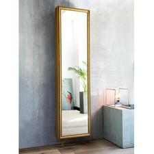 Spiegel-Drehschrank mit Rahmen - Außen prachtvoll. Innen viel praktischer Stauraum. Kaschiert raffiniert sechs Ablagefächer.