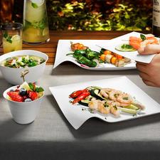Design-Oneway-Geschirr, 8er-Sets - Exquisites japanisches Design. Perfekt für Ästheten.