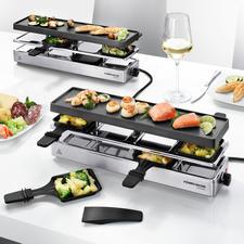 Kombi-Raclette - Endlich ein Raclette-Grill auch für große Runden mit bis zu 12 Personen.