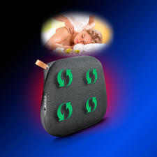 Rotierende Massageköpfe massieren genau nach Wunsch – mit zuschaltbarer Infrarot-Wärme.